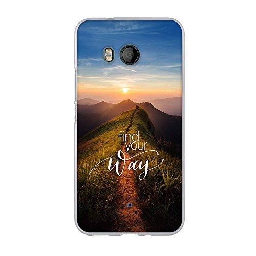 Fubaoda,Premium Hülle für HTC U11,Transparente & Feine TPU Silikon-Schutz,Schöne Landschaft [Sonnenaufgang] Kratzfest,Staubdicht,Hochwertiger Schutz mit Herausragendem Design Handyhülle für HTC U11
