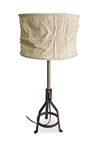 Moycor éclairage Lampe de Table Fer sur Tissu Blanc 25 x 25 x 50 cm