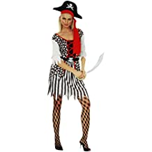 COM-FOUR® Kostüm Set für Erwachsene - perfekt für Fasching, Karneval, Halloween - Piratin / Cowboy / Sexy Nonne / Sexy Krankenschwester / Skelett