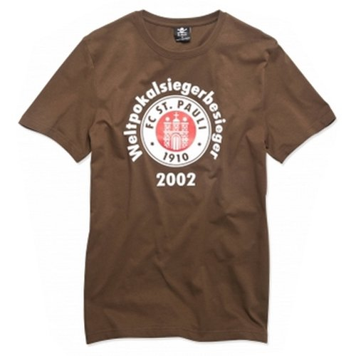 FC St. Pauli Weltpokalsiegerbesieger T-Shirt braun M