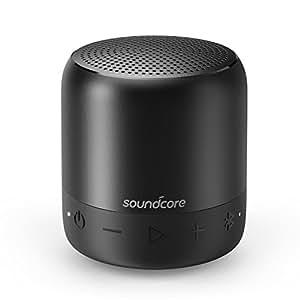 Anker, SoundCore Mini 2, super altoparlante Bluetooth portatile, con classe di protezione dall'acqua IPX7, 15ore di tempo di riproduzione, Bluetooth con portata di 20metri, bassi potenti (colore nero)
