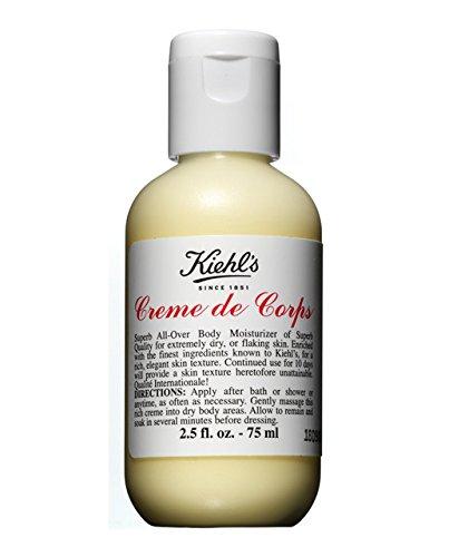 Kiehl's Creme de Corps Körper-Feuchtigkeitscreme - Flasche, Reisegröße 2.5oz (75ml) (Kiehls Haar Feuchtigkeitscreme)