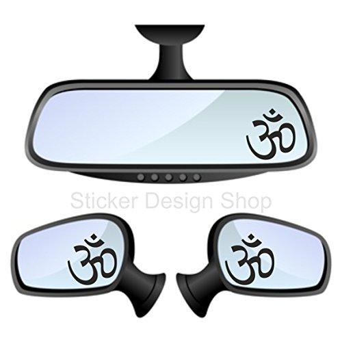 Om Symbol AUM Spiegel Aufkleber Sticker Auto Laptop Handy Indien Inde 2 stück