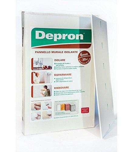 Pannello Isolante Depron (10 MQ) 80x125 cm /Spessore 6-3-9 mm (a scelta) (Spessore 6 mm) CON. 10 PZ.