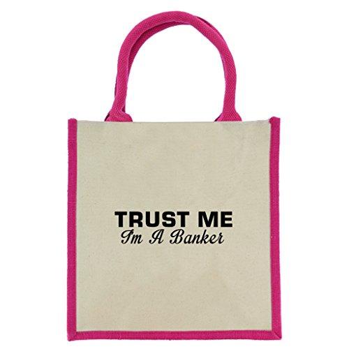 trust-me-i-m-a-banker-in-schwarz-print-jute-midi-einkaufstasche-mit-pink-griffe-und-trim
