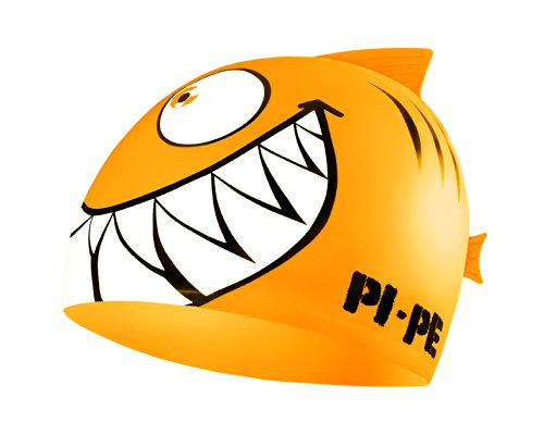 PI-PE Kinder Badekappe Sharky, Orange, One Size