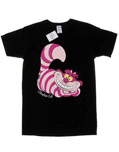 Disney Herren Alice In Wonderland Cheshire Cat T-Shirt Schwarz