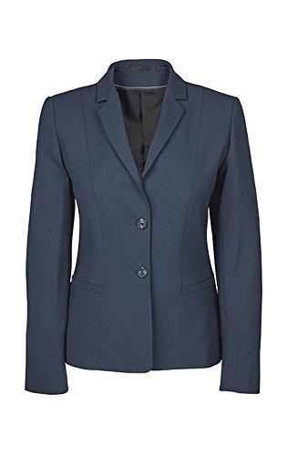 Greiff Damen-Blazer Regular Fit, 1446, blau mikrodessin, Größe 44 (Stretch Wolle Blazer)