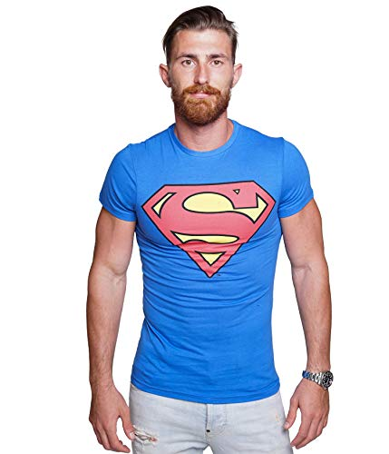 Course - Herren T-Shirt in Blau - Superman - Gr. XL