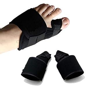 ZZF Daumen-Valgus-Orthese, Große Fuß-Valgus-Korrektur Mit Zehenseparator Für Tag und Nacht, Ein Paar