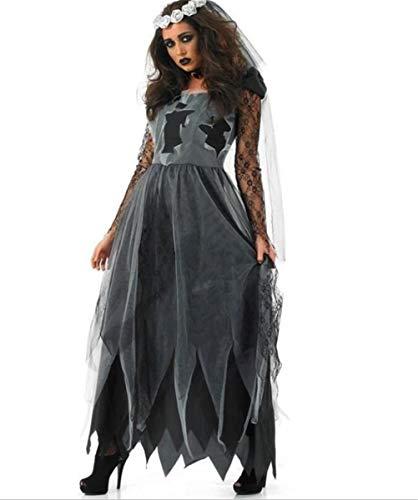 LCXYYY Damen Geisterbraut Kostüm für Halloween Karneval Fasching Kleid Costumes Verkleidung Outfit Erwachsen Party Kleider Zombiekostüm Horror Gothicbraut