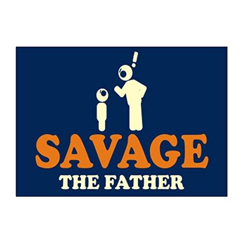Teeburon Savage the father Aufkleber Packung x4 -