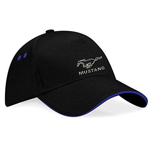 avstickerei -  Cappellino da baseball  - Uomo nero/blu Taglia unica