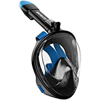 G2RISE SN01 Máscara de Buceo, Máscara de Snorkel de Cara Completa 180 Vista Panorámica con Montaje de Snorkel Desmontable, Diseño Antiniebla y Plegable para Adultos y Niños