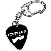 Foreigner Band Logo Gitarre Plektrum Schlüsselanhänger (H)