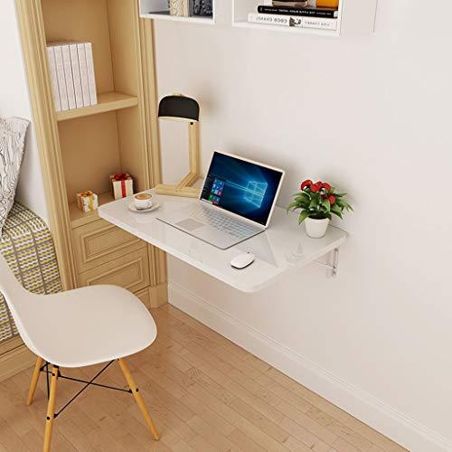 Yxsd Faltbare an der Wand befestigte Laptop-Tabelle Falten hinunter Speisetisch für kleinen Raum-weißes Holz-gegründetes Platten-Ausgangsministerium-Computer-Schreibtisch (größe : 50x30cm) -