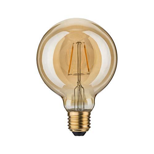 Paulmann 283.88 LED Globe Ø95mm 2,5W E27 230V Gold Warmweiß 28388 Leuchtmittel Lampe (Gold Lampe Globe)
