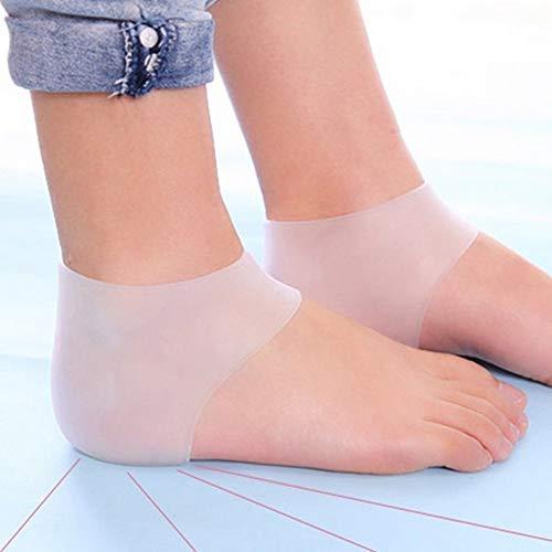 LovelysunshiDEany Silikon-Gel-Fersen-Fußschutz, Plantarfasciitis-Fuß-Bogen-Stützknöchel-Schmerz-Entlastungs-Socken-Silikon-Gel-Hülse - Weiß -