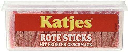 Katjes Rote Sticks 200 Stück, 1-er Pack (1 x 1.4 kg)