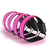 EAZY CASE 4 x LED Armband - Klettarmband mit 3 verschiedenen Modi I Leuchtarmband zur besseren Sichtbarkeit beim Joggen, Radfahren, Reflektor ideal für Kinder und Aktivitäten in der Dunkelheit, Pink