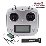Flysky FS-I6S Transmisor 10CH (Pantalla táctil, 10 Canales, Tx 2.4G) con Flysky iA6B Receptor for FPV Racing RC Drone Quadcopter by LITEBEE (Mode-2 Left Hand Throttle)