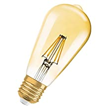 Osram Vintage 1906 LED Edison Gold E27, 4 W Equivalente a 34 Watt. 380lm