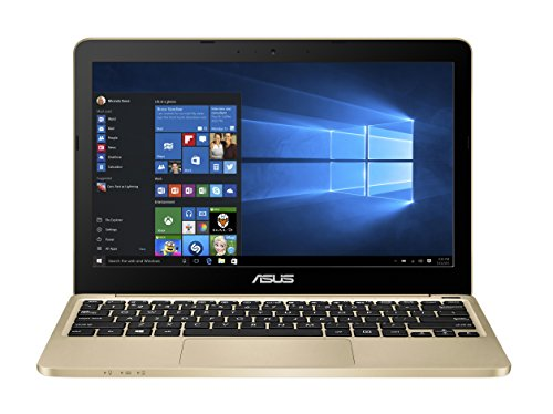 Asus E200HA-FD0006TS 29,4 cm (11,6 Zoll Glare Type) Notebook (Intel Atom x5-Z8300, 2GB RAM, 32GB eMMC, Intel HD, Win 10 Home) gold