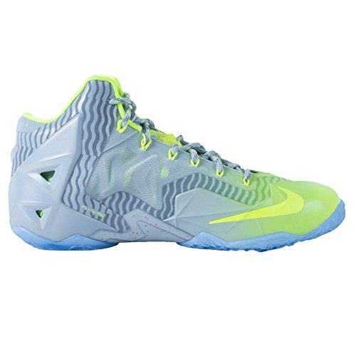 Nike - Lebron XI Tennis de Basketball metallic luster volt ice 074