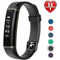 Letsfit Fitness Tracker HR, Pedometer Watch, Intelligent Activity Tracker, Heart Rate Monitor, Sleep Monitor, Step Counter, Step Tracker, Slim Smart Watch for Kids Women Men