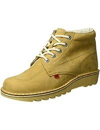 Zapatos grises de punta abierta formales Kickers infantiles qSp8O4C2L