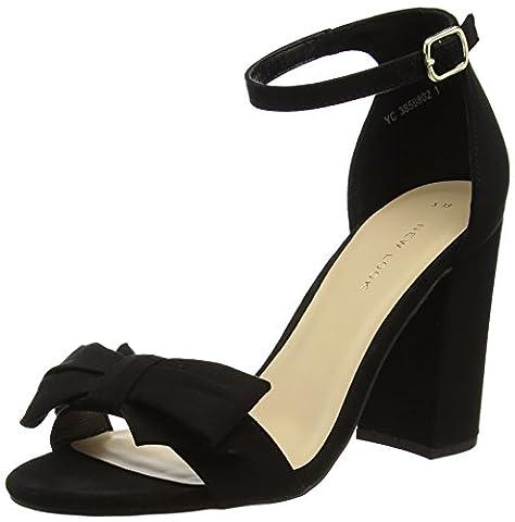 New Look Damen Seep Peep-Toe Pumps, Schwarz (Black), 43 EU (Schwarz Peep Toe)
