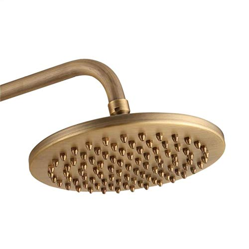 1 stück Bronze Kupfer Runde Duschkopf Regen Regen Badezimmer Duschkopf Sprayer 8 zoll Bad Hardware (Duschkopf Mit Druck-bronze)