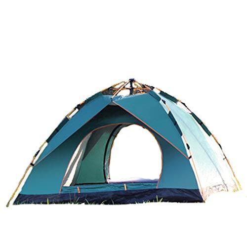 Carpa completamente automática, carpa automática plegable ultra ligera para acampar al aire libre 2 personas Sola capa Tienda de tela Oxford Impermeable Picnic Montando Montañismo La pesca ,Green