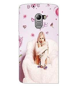 PrintDhaba Love you Girl D-1089 Back Case Cover for LENOVO K4 NOTE A7010 (Multi-Coloured)
