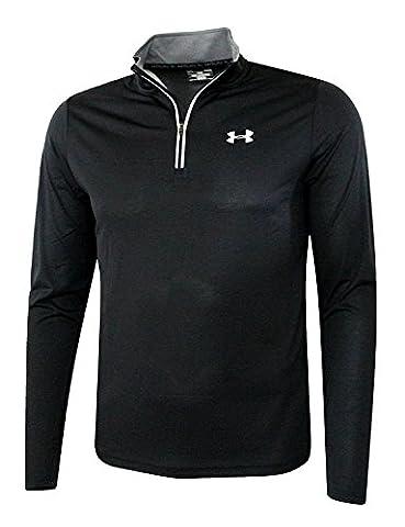 Under Armour Men's UA Athletic Running Shirt 1/4 Zip Anti Odor Reflective Top (XL, Black)