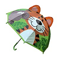 ZOOMY Children Umbrella with Animal Ears Boys Girls Cartoon Long Handle Light Umbrella