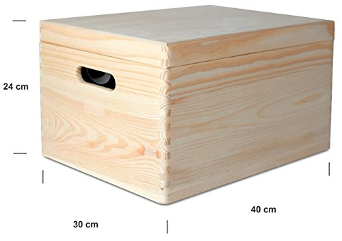 Credenza Con Decoupage : Creative deco xxl grande scatola legno con coperchio l p x