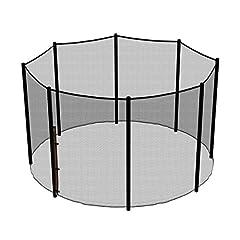 Idea Regalo - Ampel 24, Rete di sicurezza per trampolino elastico da 3,05 m e 8 pali, Pali non inclusi, Antistrappo e resistente ai raggi UV, Rete esterna