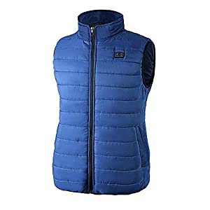 412oRcg6b9L. SS300  - DZX Unisex Electric Vest/Heating Vest/Intelligent Warm Jacket,With USB Cable - For Outdoor Travel Racing Sports Bike Skiing