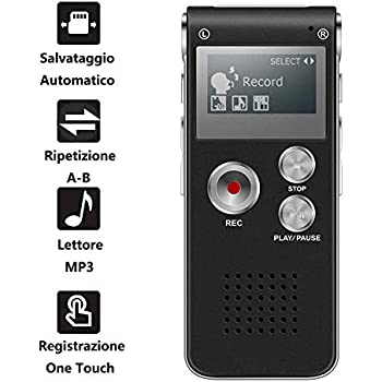 Dimensioni interne: 125x50x22mm igadgitz Nero EVA Custodia da Trasporto Rigida Zip Borsa per Registratore Vocale Digitale