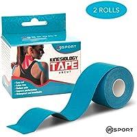 Qualität Kinesiologie Tape Set 2 Rollen 5m x 5cm - Kinesiotape Wasserfest und elastisch für Sport - Premium Ungeschnittenes... preisvergleich bei billige-tabletten.eu