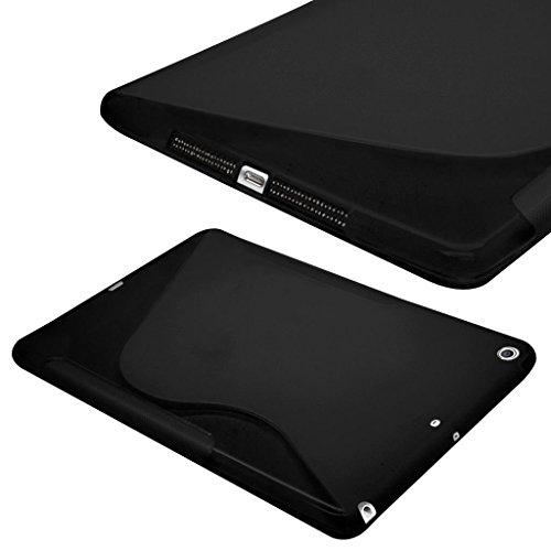 Preisvergleich Produktbild Premium Apple iPad Pro 30,5cm schwarz Fall Silikon Gel S-Line Wave Design Case Cover für Apple iPad Pro 30,5cm