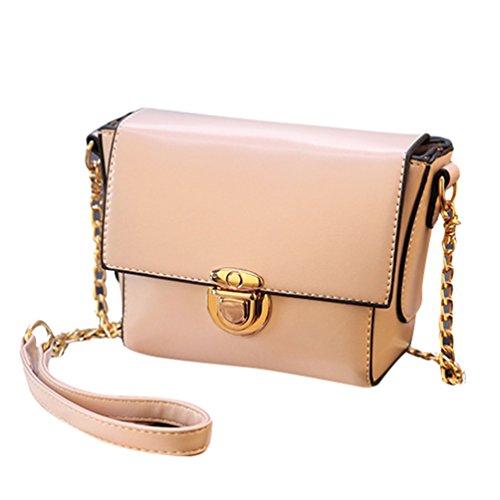 Baymate Damen Elegant Umhängetasche Handtasche Satchel Messenger Purse Tasche Beige