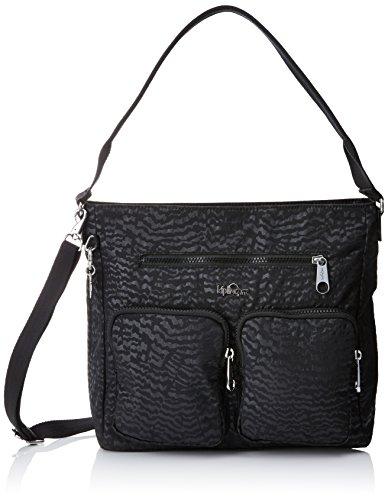 Kipling - Tasmo, Shoppers y bolsos de hombro Mujer, Schwarz (Black Garden), One Size