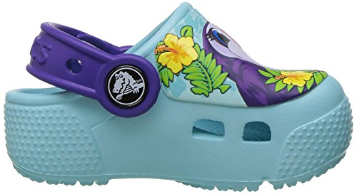 Crocs Crocsfunlab Lights Tcan/Iblu, Zoccoli Unisex – Bambini Multicolore (Toucan/Ice Blue)