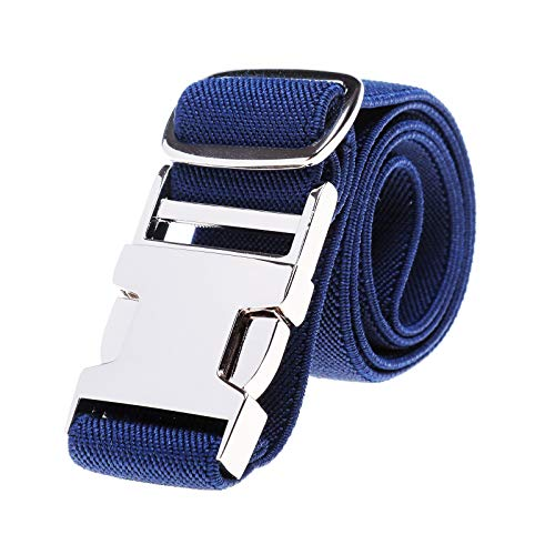 Kinder elastische Schnalle Hose Gürtel - Stretch Gürtel mit Zinklegierung Schnalle verstellbarer Gürtel für Jungen Mädchen Easy Clasp Gürtel (Marineblau)