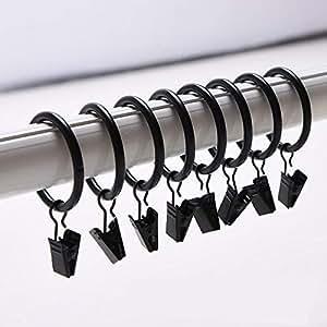 musuntas 30 stk 35mm durchmesser mehrzweck vorhang clip gardinenstange gardinenringe. Black Bedroom Furniture Sets. Home Design Ideas