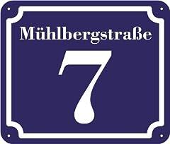 blaues und Straße Schild 2mm