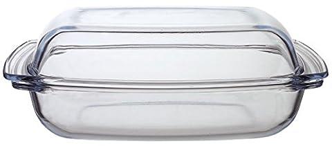 Arcuisine Hitzebeständiges feuerfestes Gefäß Auflaufform Bräter mit Deckel aus Glas Varianten (5,2