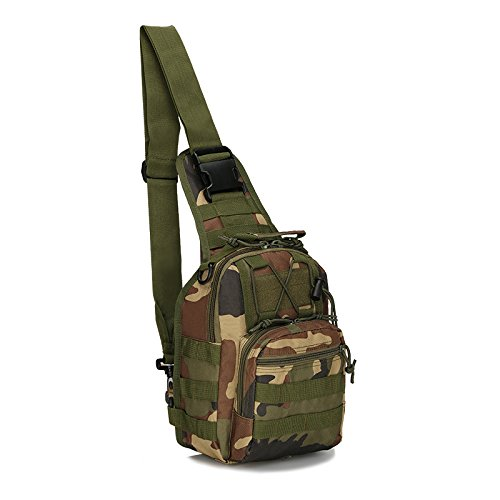 Outdoor Tactical Rucksack, Military Sport Pack Daypack Schulter Rucksack Forest Camouflage